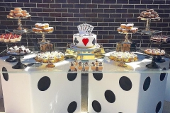 Close up of the dessert table from the themed birthday party Design of 50th birthday party decorations ideas